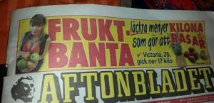 Hamnade även på löpsedlarna för aftonbladet  då jag pratade om min diet det var Annika Sundbaum Melin en vän som prompt ville ha med mig ;)