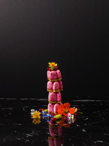 Cheesecake på lingon och rostat teffmjöl av Magnus Johansson