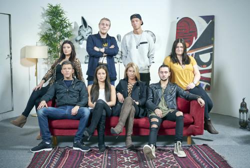 Miranda, Calle, Ben, Emre, Hanna, Debbi, Tim, Michaela. Foto: TV3/Johnny Wohlin.